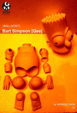 Ball-Joint Bart Simpson Qee by Patrick Chow 1 Small.jpg